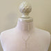 sterling silver pearl Y necklace with earrings