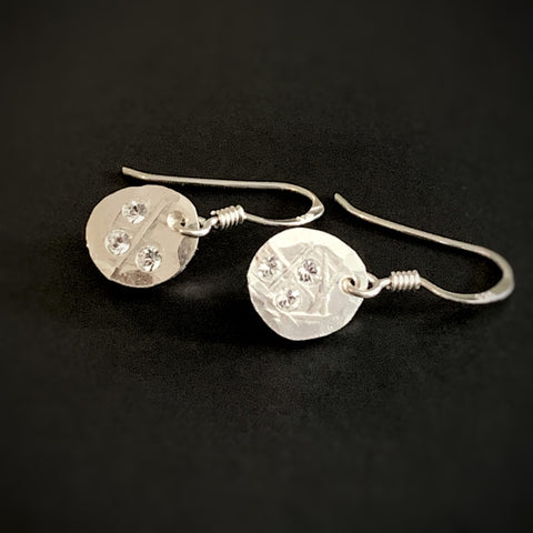 Stars Unknown, sterling short with small dangle earrings.