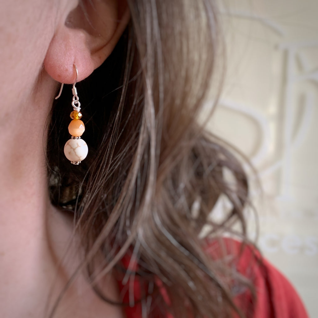 Orange Creamsicle Earrings