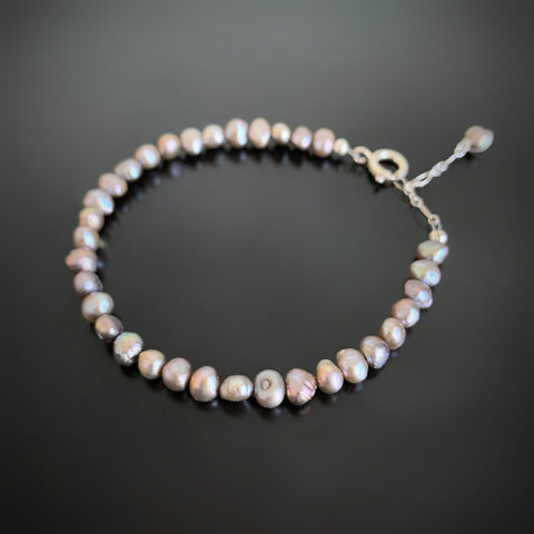 adjustable length freshwater pearl bracelet