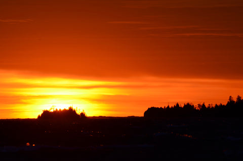 Autumn Sunset over The Fishing Islands of Lake Huron