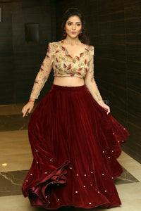 Trends Villa™ NEW VELVET LEHENGA CHOLI SET - Trends Villa