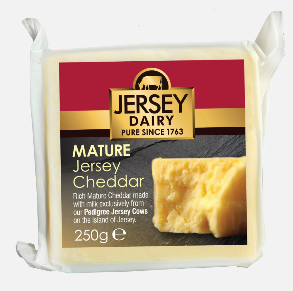 Cheese - Cheddar Mature 250g - Jersey Dairy