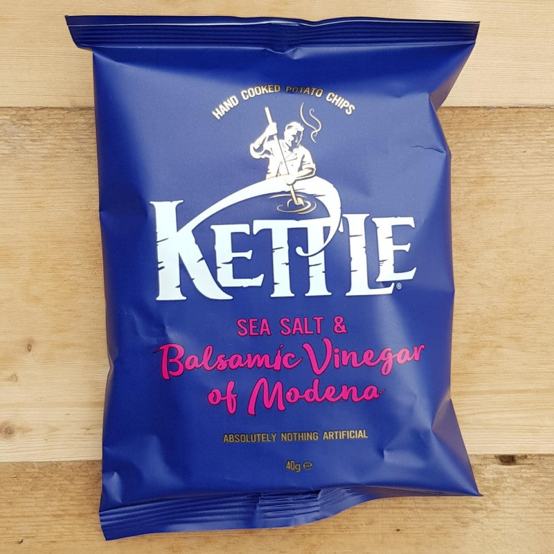 Kettle Crisps Sea Salt & Balsamic Vinegar 40g