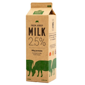 Milk Reduced Fat Green 2.5% 1l - Jersey Dairy
