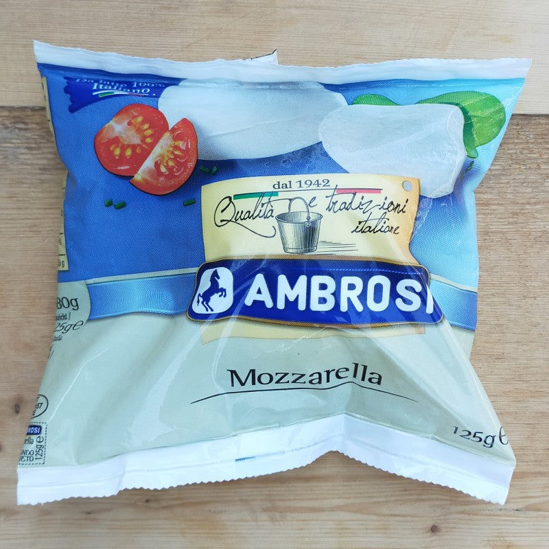 Cheese - Ambrosi Italian Cows Milk Mozzarella 125g