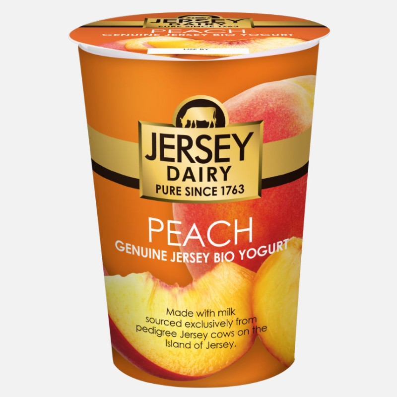 Yogurt Peach 500ml - Jersey Dairy