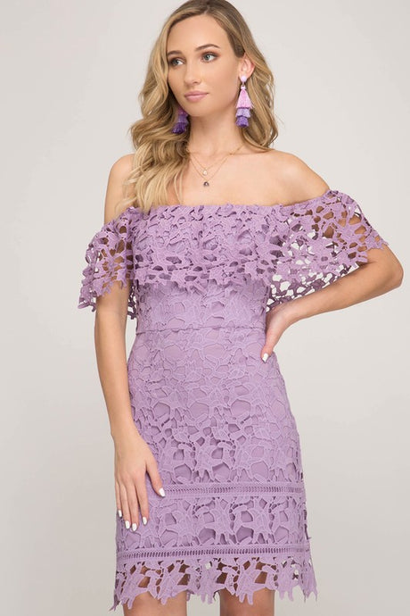 Paris Scalloped Lace Dress freeshipping - Belle Isabella Boutique