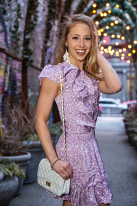 Allison Lavender Polka Dot Dress