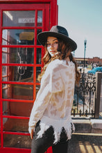 Load image into Gallery viewer, Rachel Leopard Distressed Sweater freeshipping - Belle Isabella Boutique