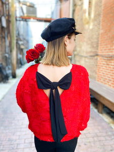 Dixiana Red  Top freeshipping - Belle Isabella Boutique