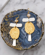 Load image into Gallery viewer, Athena Topaz Stone Earrings