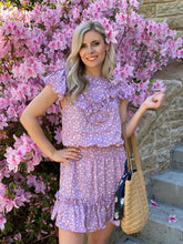 Load image into Gallery viewer, Allison Lavender Polka Dot Dress