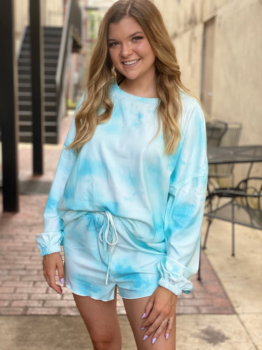 The Casual Chic Tie-Dye Loungewear Top | New Fashion Women Dresses, Swimwear, Shoes, and accessories online!