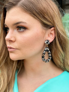 Black Beaded Earrings | New Fashion Women Dresses, Swimwear, Shoes, and accessories online!