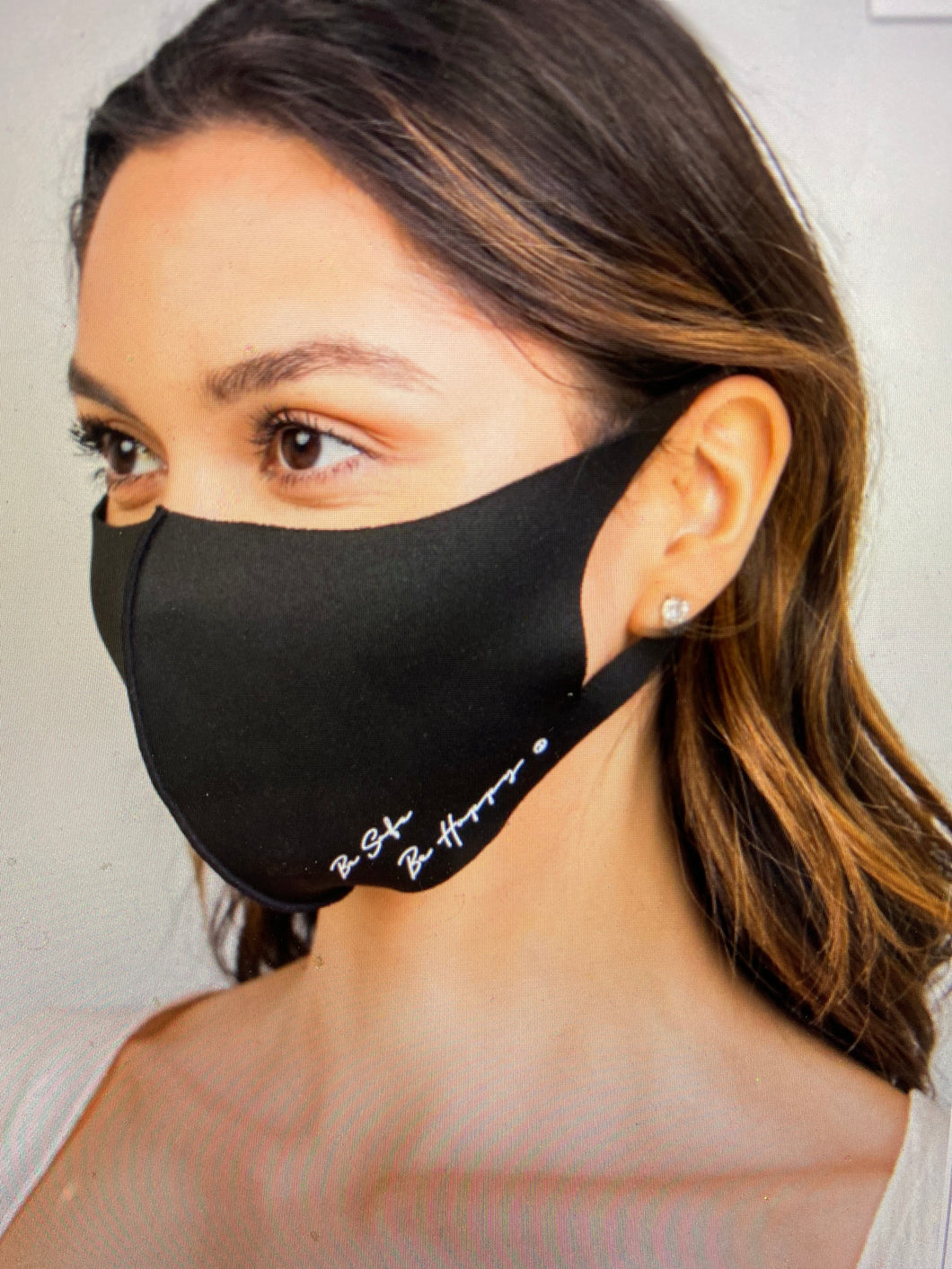 Be Safe, Be Happy Mask | New Fashion Women Dresses, Swimwear, Shoes, and accessories online!