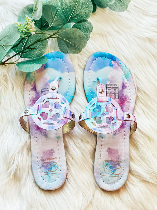 Tie-Dye Sandals | New Fashion Women Dresses, Swimwear, Shoes, and accessories online!
