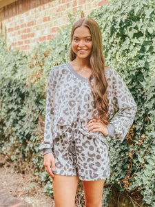 Leopard Print Loungewear Top | New Fashion Women Dresses, Swimwear, Shoes, and accessories online!