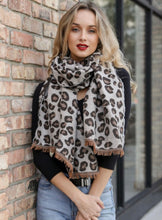Load image into Gallery viewer, The Softest Reversible Leopard Scarf with Fringe freeshipping - Belle Isabella Boutique
