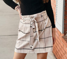 Load image into Gallery viewer, Phoebe Oatmeal Corduroy Skirt