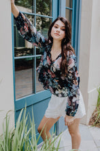 Load image into Gallery viewer, Let Your Dreams Blossom Black Floral Blouse | New Fashion Women Dresses, Swimwear, Shoes, and accessories online!