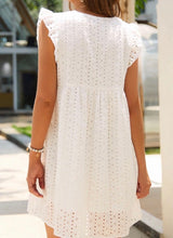 Load image into Gallery viewer, Self Love Peach Eyelet Romper Dress