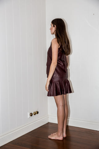 LANA SKIRT - BORDEAUX