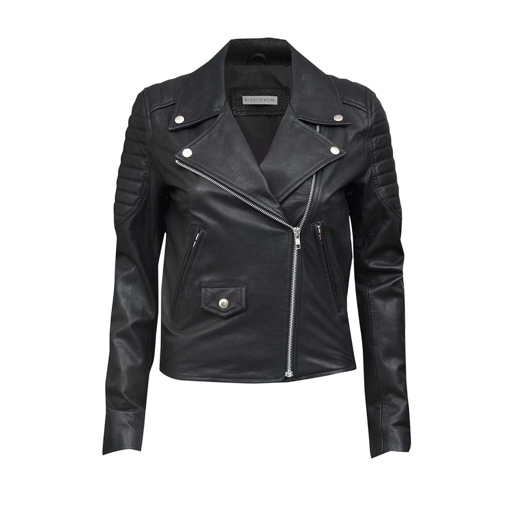 LENNON LEATHER JACKET - LAMB CABRETA - WINSTON WOLFE