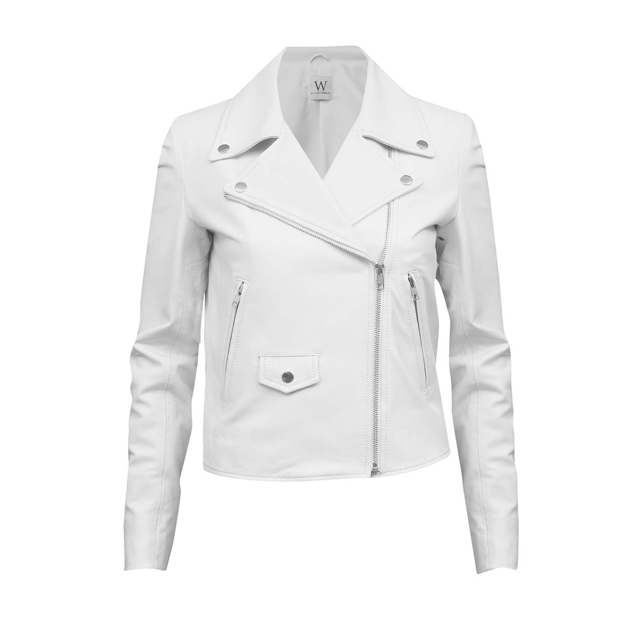 IVORY LEATHER JACKET - WINSTON WOLFE