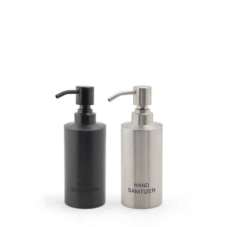 12oz Brushed Stainless Hand Sanitizer Pump - Silver or Matte Black Safety Accessories FOH Health Essentials