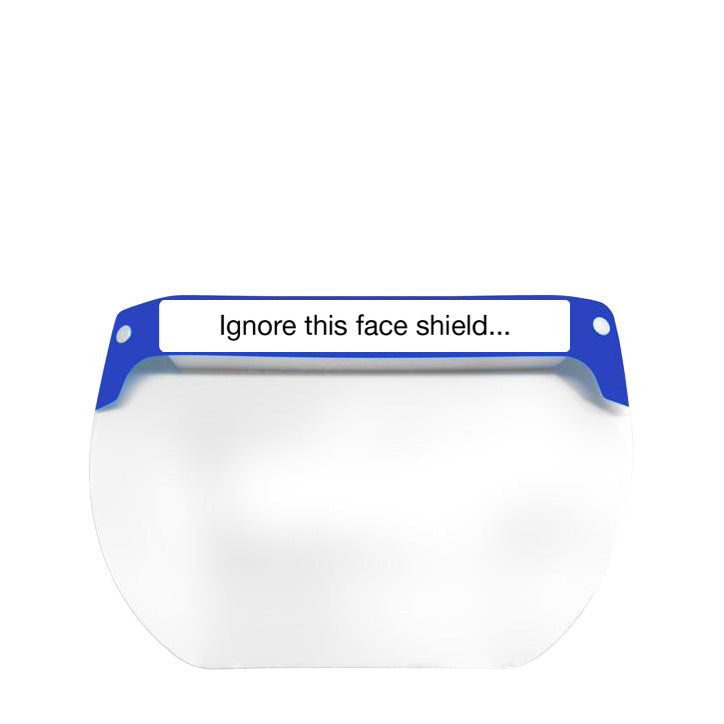 Customizable Full Length Protective Face Shield, case of 10 ($7.00/item)