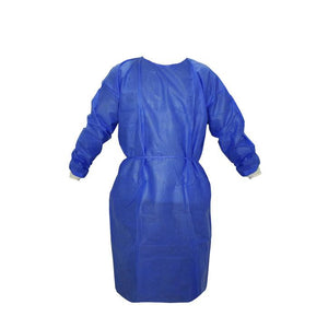 "45"" Disposable Isolation Gown - non-sterile - non-surgical, box of 10 ($5.99/item) Body Protection FOH Health Essentials"