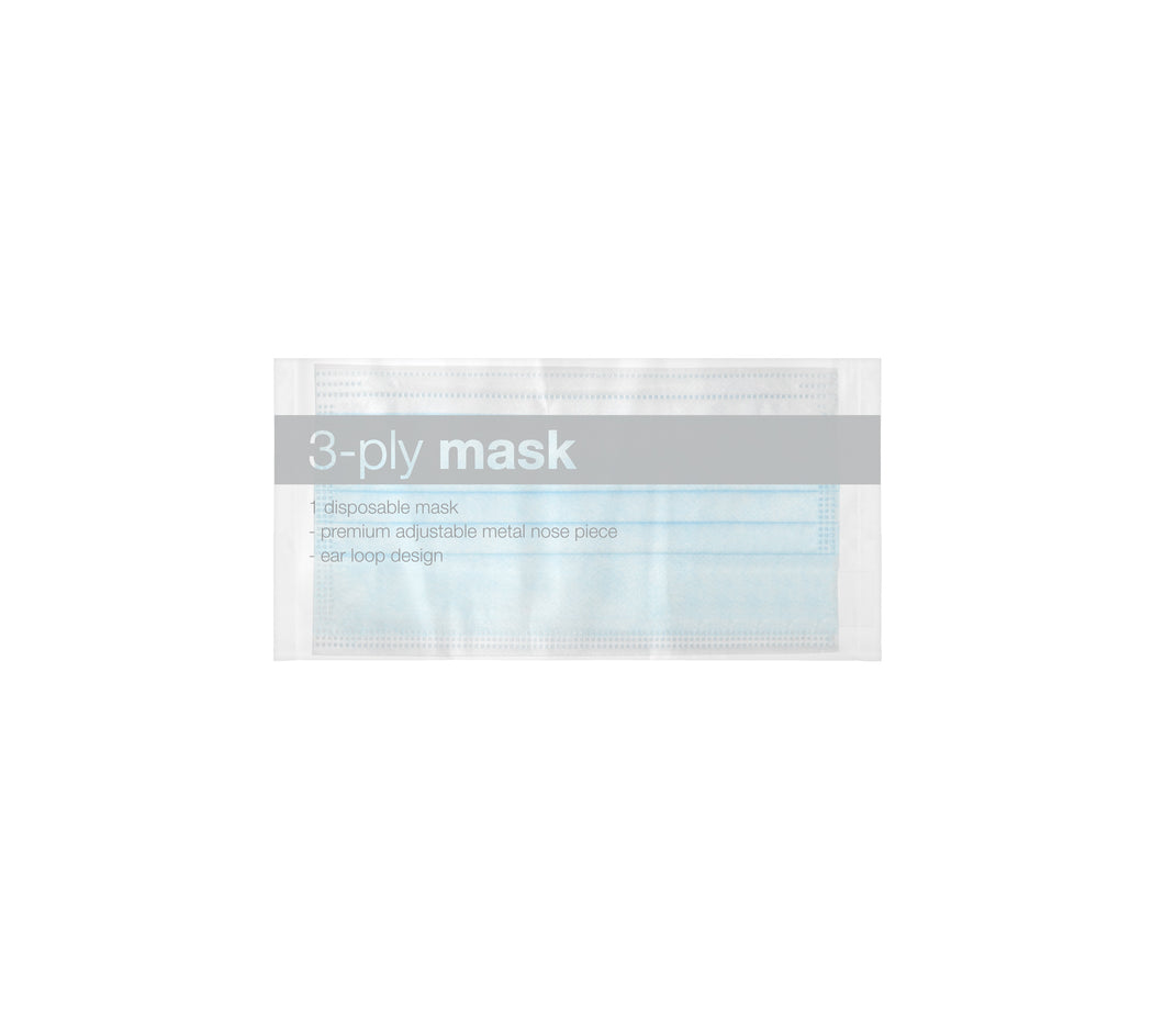 50 Wrapped High-Quality Disposable Face Masks