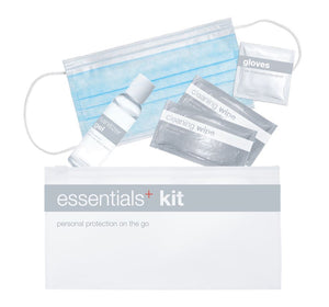 24 Pack Essential+ Kit: Face Mask, Wipes, Gloves, Sanitizer