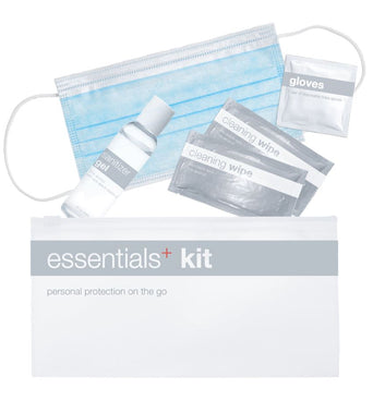 24 Pack Essential Kit: Face Mask, Wipes, Gloves, Sanitizer