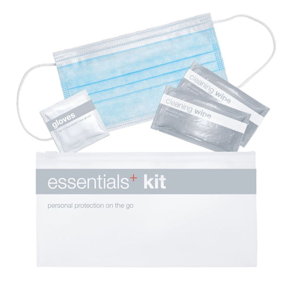24 Pack Essential Kit: Face Mask, Wipes, Gloves