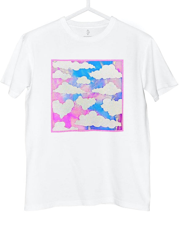Cloud Skyscape T-Shirt Iridescent | JASON BRICKHILL