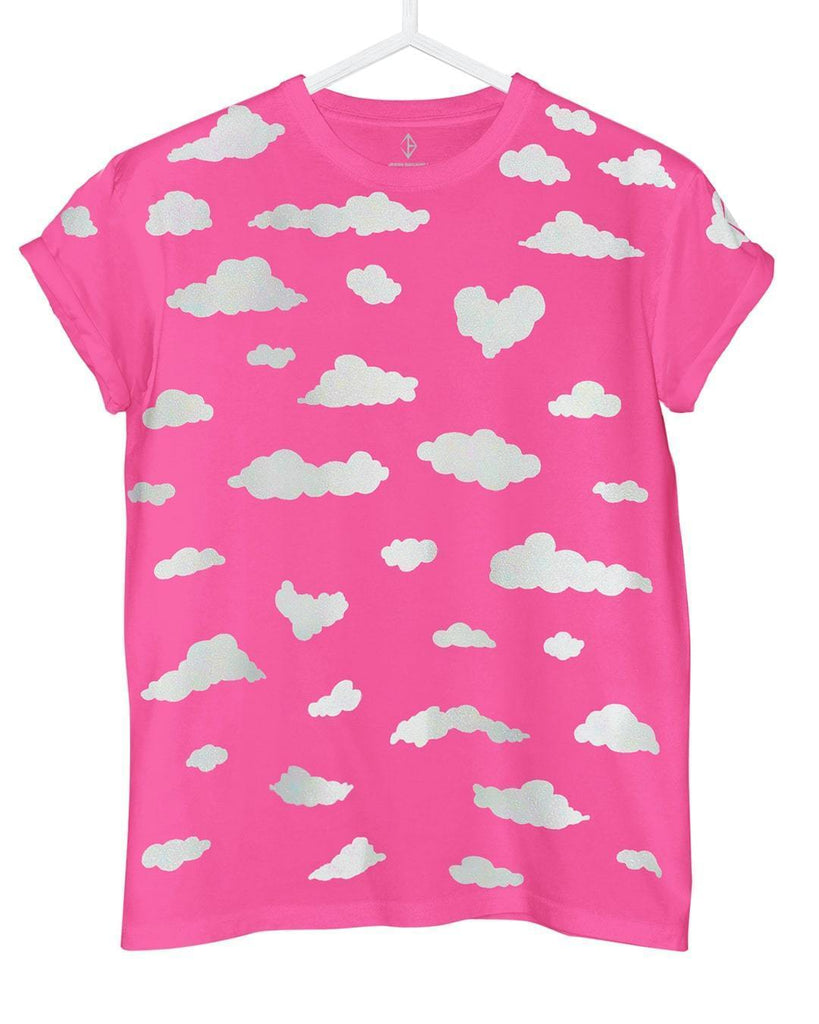 Neon Pink Clouds T-Shirt | JASON BRICKHILL