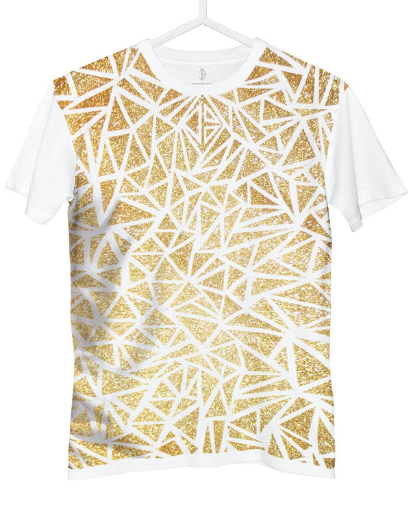 Glitter T-Shirt white and gold | JASON BRICKHILL