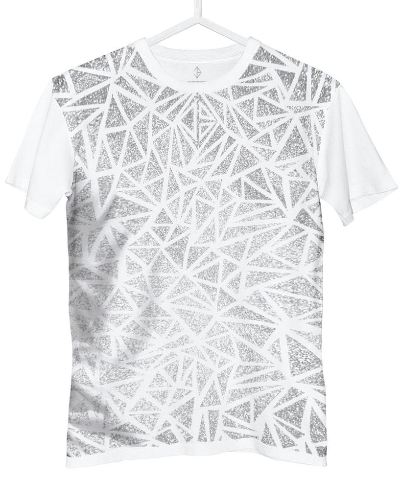 Glitter T-Shirt white and silver | JASON BRICKHILL