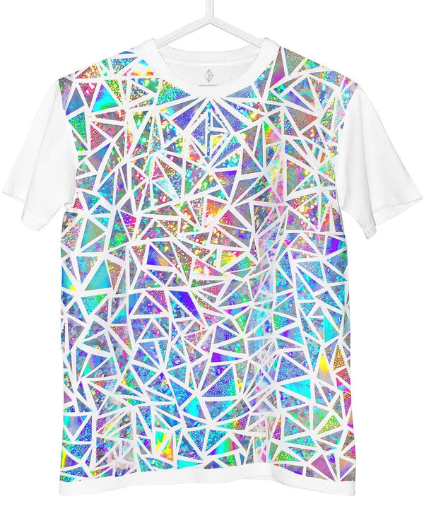Holographic T-Shirt Hologram Mosaic Pattern Rainbow | JASON BRICKHILL