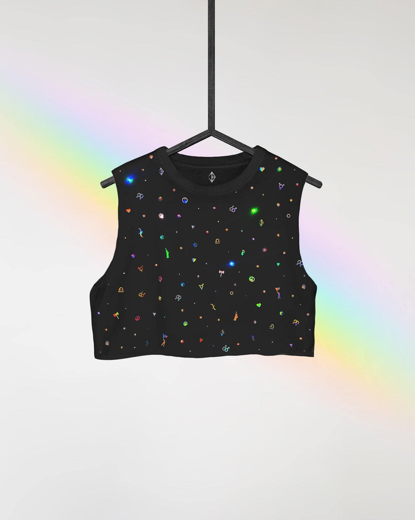 Crystal Charm PRIDE Crop Top | JASON BRICKHILL