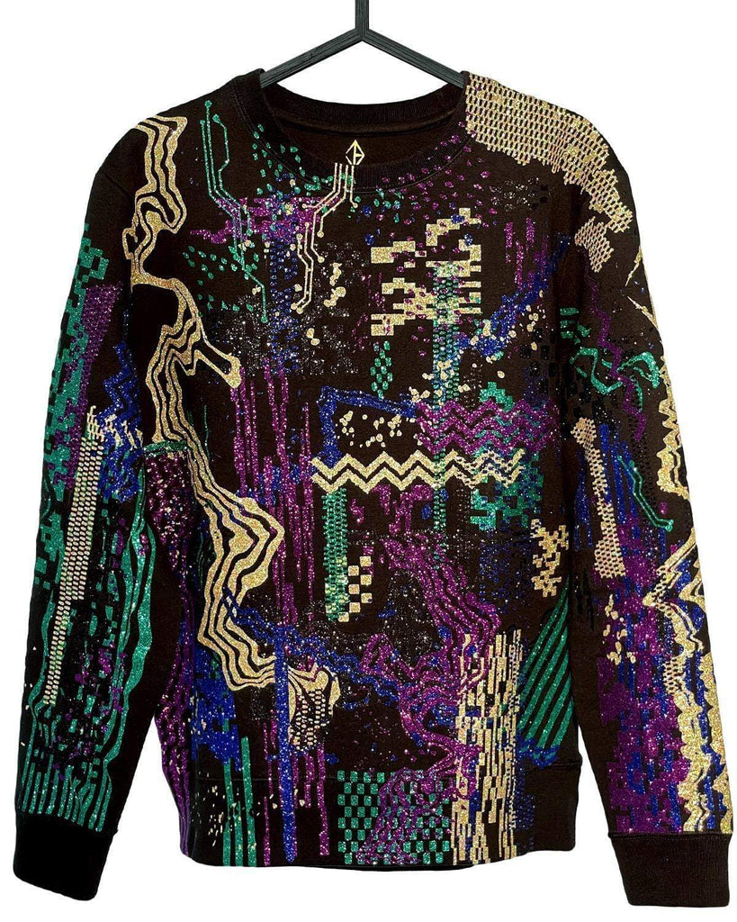 Glitter Glitch Sweater | JASON BRICKHILL