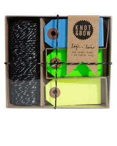 NEON TAG AND TWINE BOX