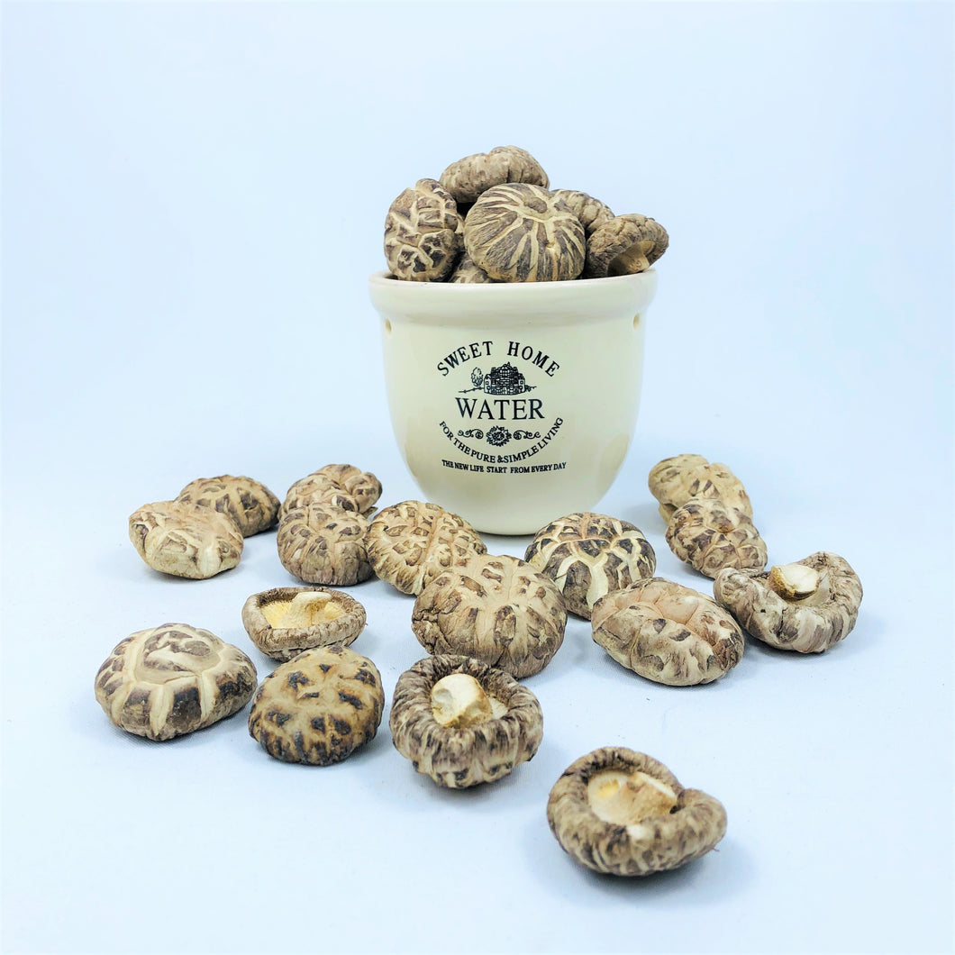 Premium Japanese White Flower Shiitake Mushroom (Small, Thick)