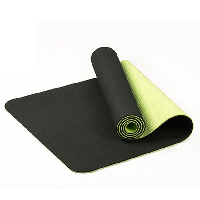 6Mm Tpe Two-Color Non-Slip Yoga Mat