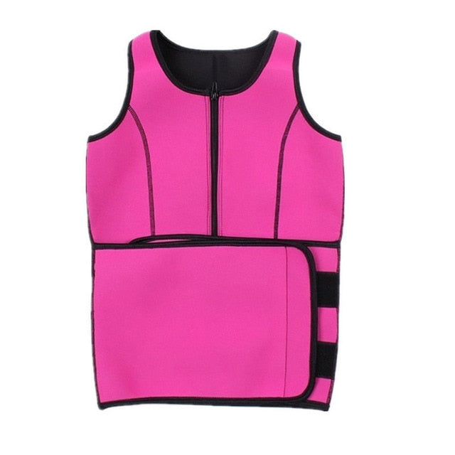 Sport Tank Tops With Adjustable Sweat Belt Body Waist Shapers