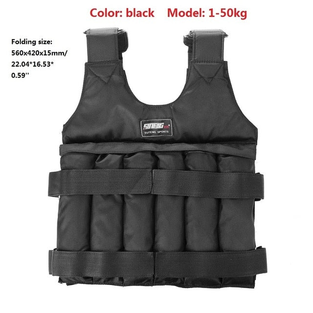 20kg 50kg Loading Weight Vest for Boxing Workout