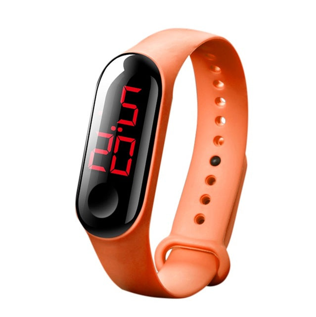 Men Women Sport Casual LED Watches Digital Clock Luminous Sensor