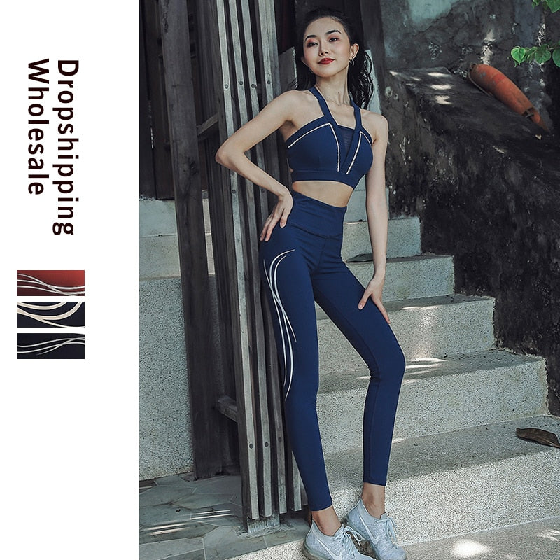 Woman Sportswear For Women Workout Tank Top Leggings
